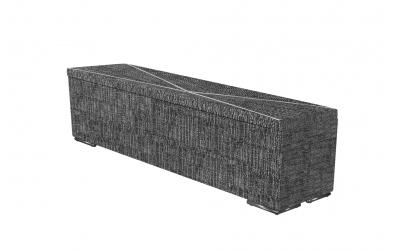Čalúnený taburet ATLAS prešívaný 180 cm, MATERASSO