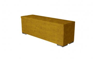 Čalúnený taburet CORONA prešívaný 140 cm, MATERASSO