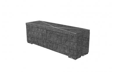 Čalúnený taburet ATLAS prešívaný 140 cm, MATERASSO