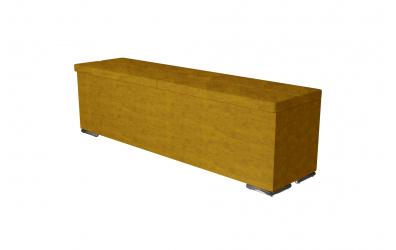 Čalúnený taburet CORONA prešívaný 160 cm, MATERASSO