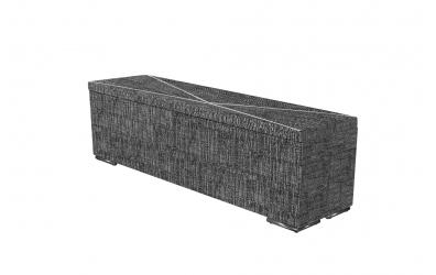 Čalúnený taburet ATLAS prešívaný 160 cm, MATERASSO