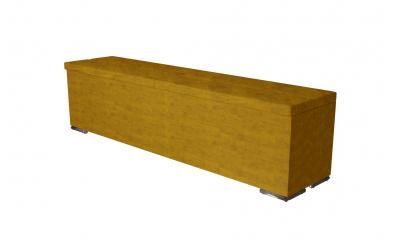 Čalúnený taburet CORONA prešívaný 180 cm, MATERASSO