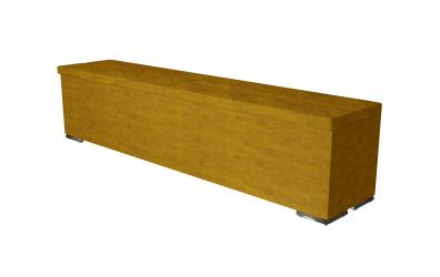 Čalúnený taburet CORONA prešívaný 200 cm, MATERASSO