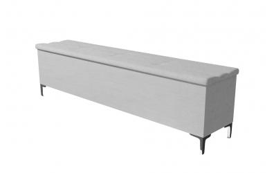 Čalúnený taburet CLAUDIA prešívaný 200 cm, MATERASSO
