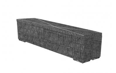Čalúnený taburet ATLAS prešívaný 200 cm, MATERASSO