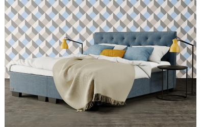 Čalúnená posteľ boxspring ALESIA 120x200, MATERASSO