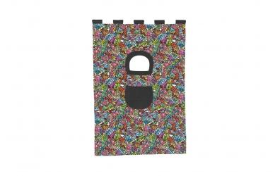 Textília 7 COMICS palanda nízká 1610 mm  farebný
