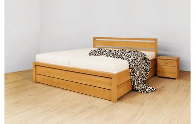 Manželská posteľ ELEGANT Sofia s ÚP 140 cm, buk cink