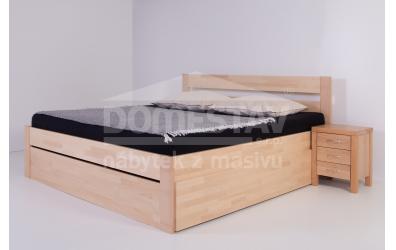 Manželská posteľ ELEGANT Agáta 140 cm, buk cink