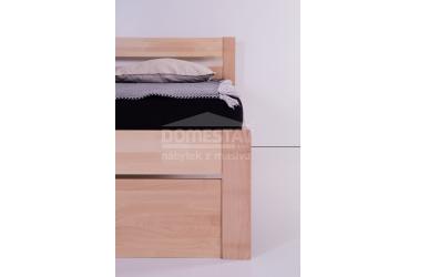Manželská posteľ ELEGANT Agáta 180 cm, buk cink