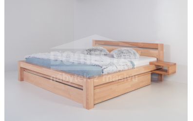 Manželská posteľ ELEGANT Klára 160 cm, buk cink