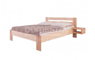 Manželská posteľ ELEGANT Inga 160 cm, buk cink