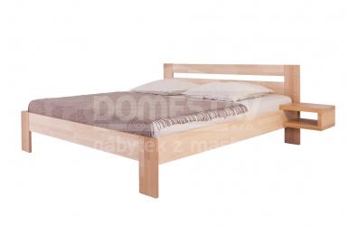 Manželská posteľ ELEGANT Inga 180 cm, buk cink