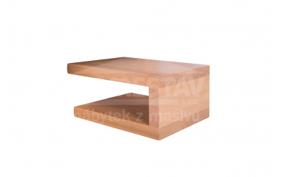 Nočný stolík ELEGANT Uni 2, buk cink