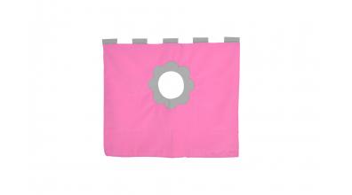 Závesná textília pod zvýšené jednolôžko - ružovo šedá