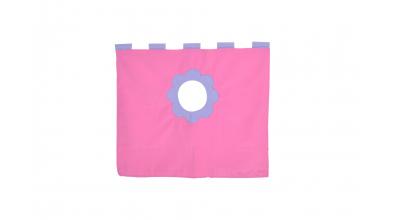 Závesná textília pod zvýšené jednolôžko - ružová