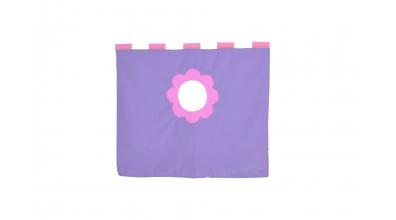 Závesná textília pod zvýšené jednolôžko - fialová
