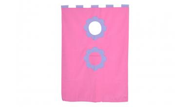 Závesná textília palanda - ružová