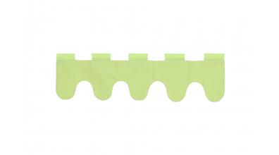 Textilie vlnky zelená