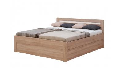 Manželská posteľ MARIKA Klasik, 140x200, dub cink