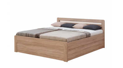 Manželská posteľ MARIKA Klasik, 200x200, dub cink