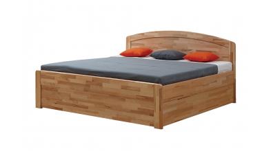 Manželská posteľ MARIKA Art, 140x200, buk jadrový