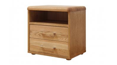 Nočný stolík ADRIANA, dub cink