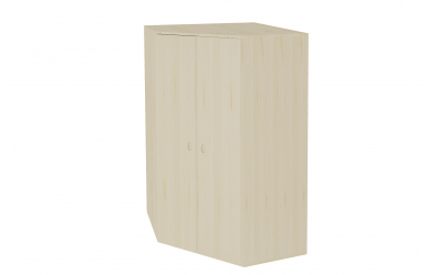 Skriňa rohová šatníková s dverami hĺbka 576 smrek