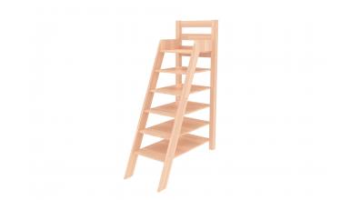 Rebrík policový vysoký, buk cink