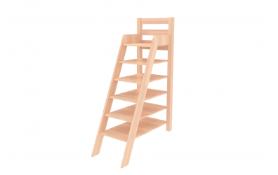 Rebrík policový vysoký buk cink