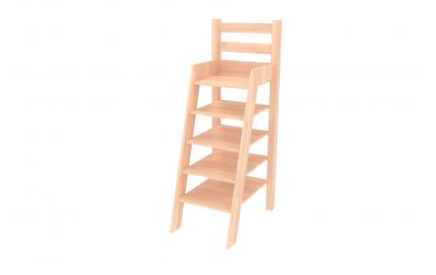 Rebrík policový nízky buk cink