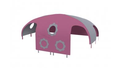 Domček stan pre delené čelo a zábranu A, B pravý - ružovo šedý