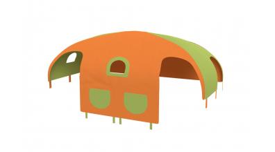 Domček stan vrecká pre delené čelo a zábranu A B  pravý  zeleno/oranžový