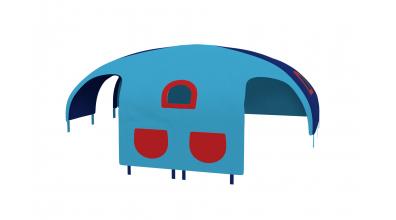 Domček stan vrecká pre delené čelo a zábranu A B ľavý tyrkysovo/modrý
