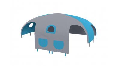 Domček stan pre delené čelo a zábranu A B  pravý - tyrkysovo šedý