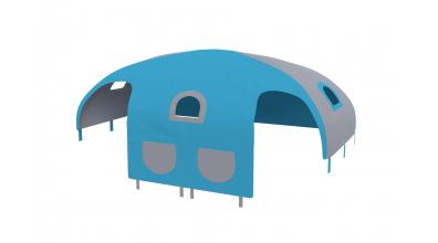 Domček stan vrecká pre zábranu A B tyrkysovo/šedý