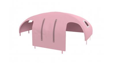 Domček stan pre zábranu A B pastel ružový
