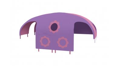 Domček stan kvetinky pre delené čelo a zábranu A B ľavý ružovo fialový