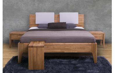 Manželská posteľ FANTAZIA  nastaviteľné čelo oblé 180cm buk cink