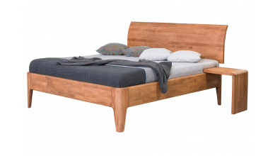 Manželská posteľ FANTAZIE, nastaviteľné čelo oblé 180 cm, buk cink