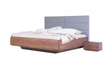 Manželská posteľ  LEVITY čelo čalúnené - BUK