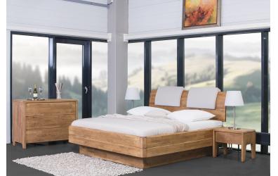 Manželská posteľ FANTAZIA GRANDE nastaviteľné čelo oblé 180cm buk cink