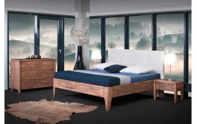 Manželská posteľ FANTAZIA čelo čalúnené 180cm buk cink