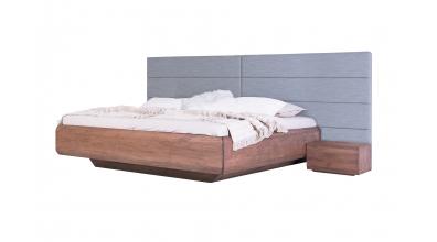 Manželská posteľ LEVITY čelo čalúnené rozšírené, buk