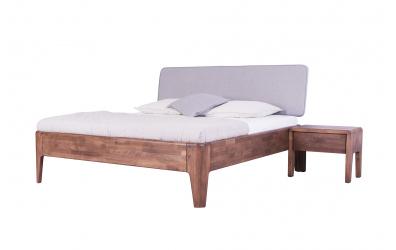 Manželská postel FANTAZIE čelo čalouněné nízké 180 cm, buk cink
