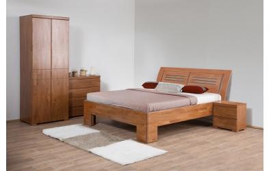 Manželská posteľ SOFIA  čelo oblé 2 výplňe 180cm buk cink