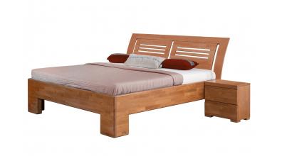 Manželská posteľ SOFIA čelo oblé 2 výplne 180 cm, buk cink