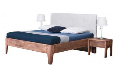 Manželská posteľ FANTAZIE, čelo čalúnené 180 cm, dub cink