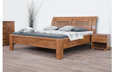 Manželská posteľ FLORENCIA  čelo oblé 2 výplňe 180cm buk cink