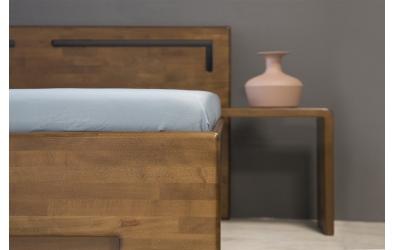 Manželská posteľ SOFIA  čelo rovné s výrezmi L 180cm buk cink